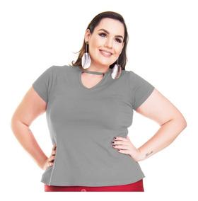 623e5f418a Blusa Viscose Malha Retilínea Diferente - Camisetas e Blusas com o ...