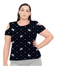 442767c56 Blusa Plus Size - Calçados, Roupas e Bolsas com o Melhores Preços no  Mercado Livre Brasil