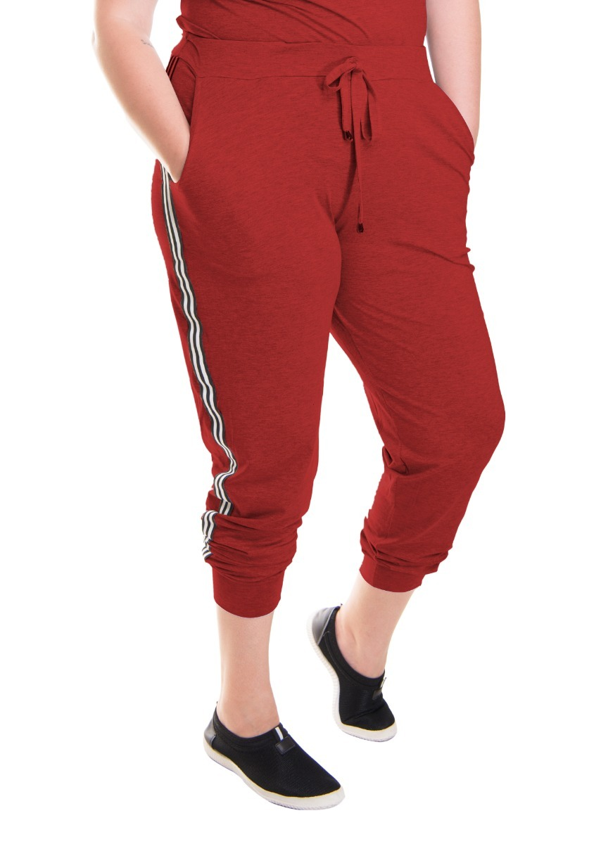 7afe1e1753 roupa feminina calça jogger listra lateral plus size. Carregando zoom.