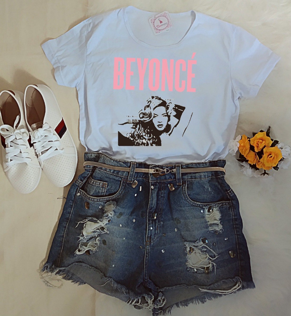3fe5b8549d Roupa Feminina Camiseta Beyoncé Moda Tumblr Promoção! - R$ 32,90 em ...