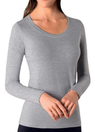 roupa feminina camiseta blusa manga longa algodão loba lupo