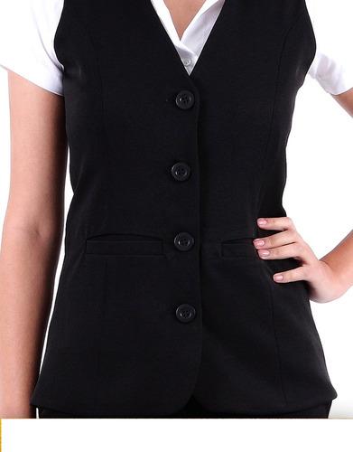 roupa feminina - colete social fashion kit3