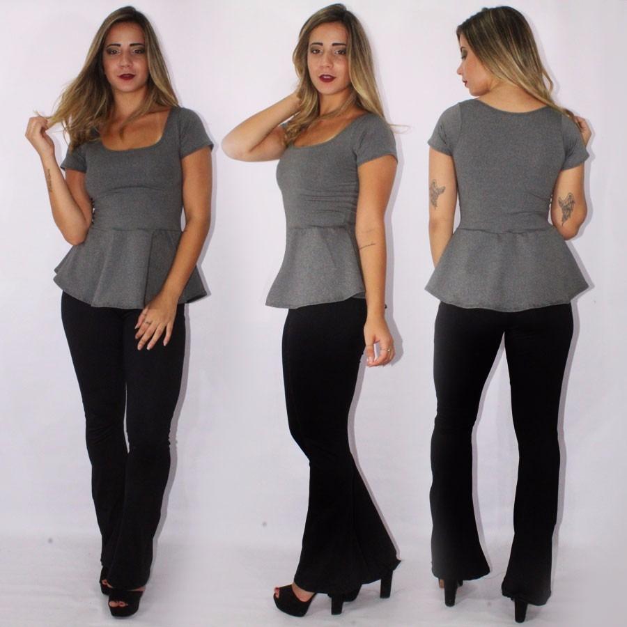 a3305418a8 roupa feminina conjunto calça flare e blusa peplum moda 2017. Carregando  zoom.