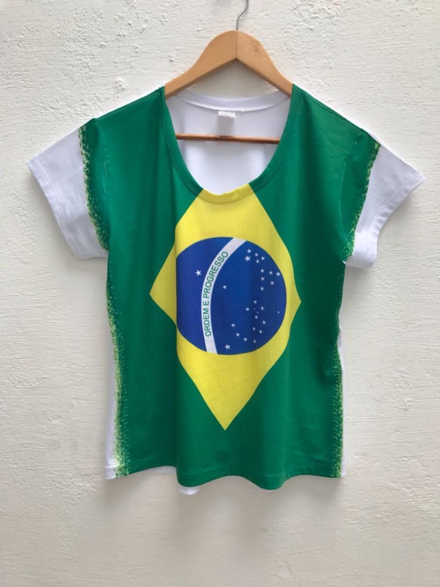 5cf4c64d8 roupa feminina copa bandeira do brasil estampa cheia. Carregando zoom.