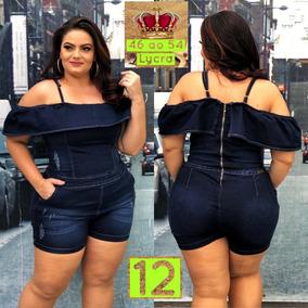cfa3acb0c Macaquinho Jeans Com Lycra - Macacão para Feminino no Mercado Livre ...