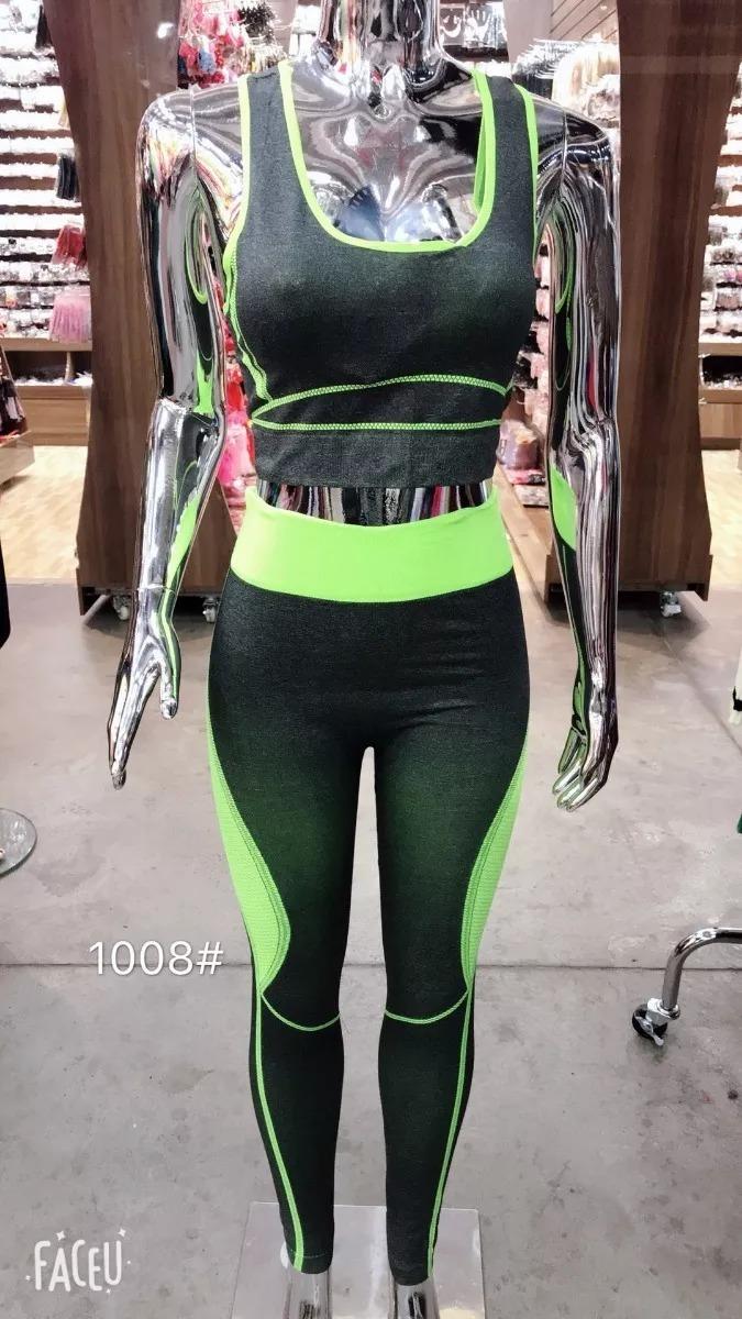 45ff658ff roupa feminina para malhar fitness ginastica yoga kit 5. Carregando zoom.