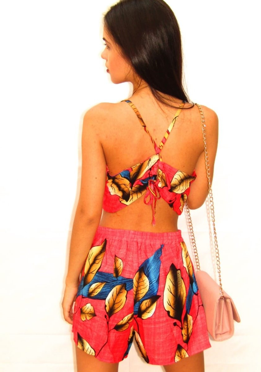 28c36c640b roupa feminina primavera verão conjunto cropped e short. Carregando zoom.