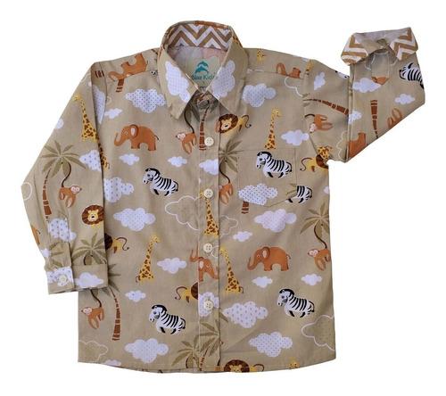 roupa festa infantil conjunto camisa social infantil safári calça social com suspensório menino e gravata blue kids