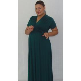 647afa9f5 Vestidos Plus Size Para Gravidas no Mercado Livre Brasil