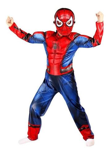 roupa homem aranha fantasia spiderman crianças cosplay