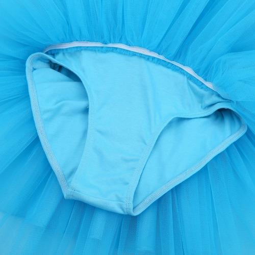 roupa infantil bailarina saia tutu azul com paetês para balé