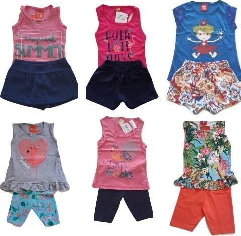 roupa infantil kit 10 conjuntos menina feminino sortidos