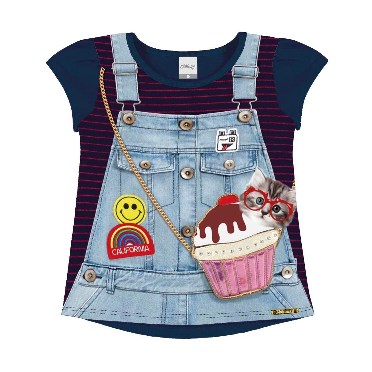 Roupa Infantil Menina Conj Blusa E Legging Alakazoo - R  45 cebea298c9c28
