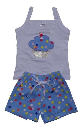 roupa infantil menina kit com 6 conjunto infantil feminino