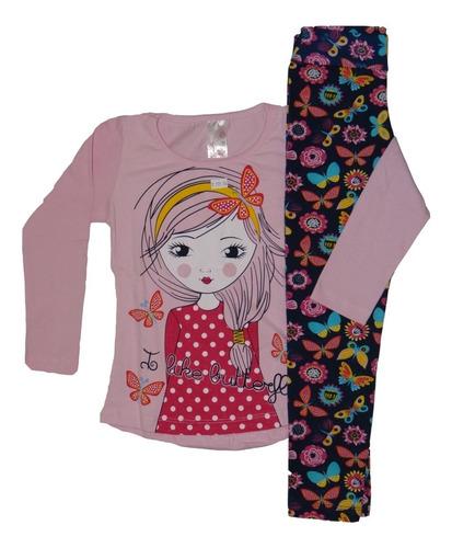 roupa infantil menina kit de 6 conjunto meia estação inverno