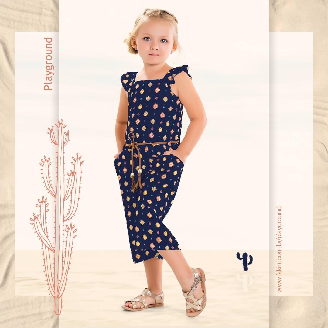 a87762c69e roupa infantil menina macacão pantacourt 3 anos fakini. Carregando zoom.