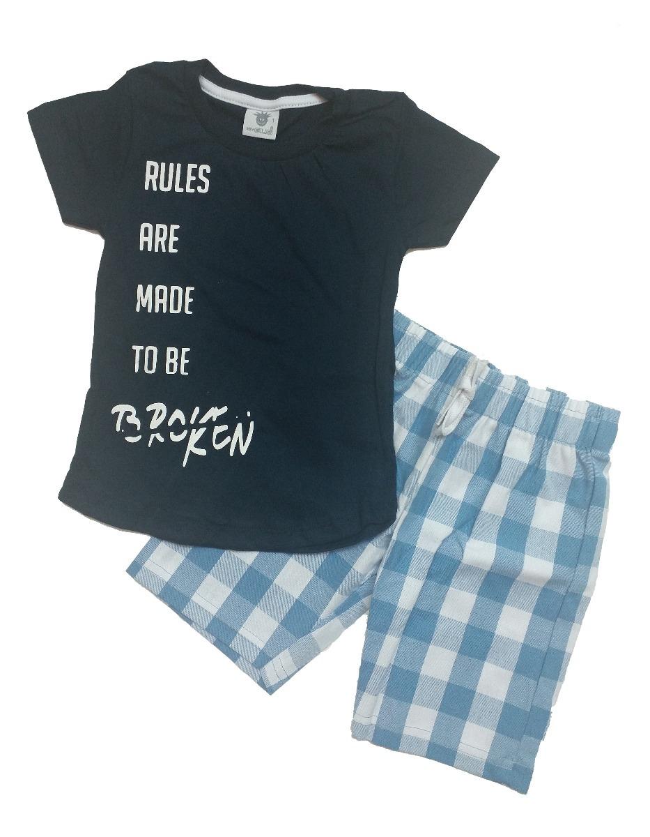 d8bf6c6148 roupa infantil p  menino bebê conjunto rules (tam.1). Carregando zoom.