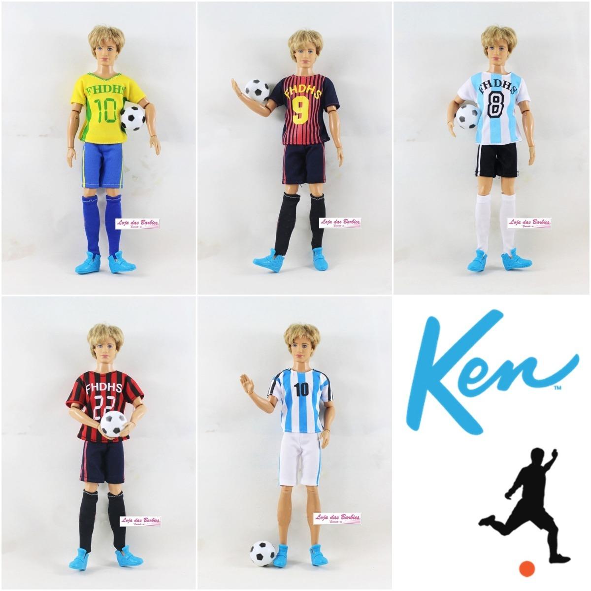 b8c4e92d95a21 roupa jogador de futebol para boneco ken ( barbie ) + tênis. Carregando  zoom.