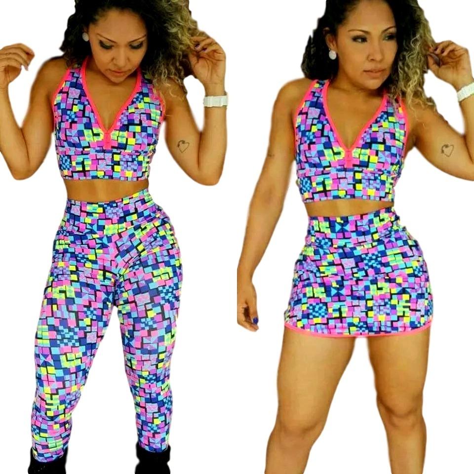 6aea99285 roupa malhar feminina academia ginástica fitness emagrecer. Carregando zoom.