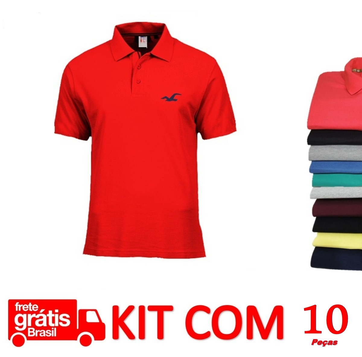 roupa masculina 10 camisas polo básica promoção frete grátis. Carregando  zoom. 92b78e37bf197