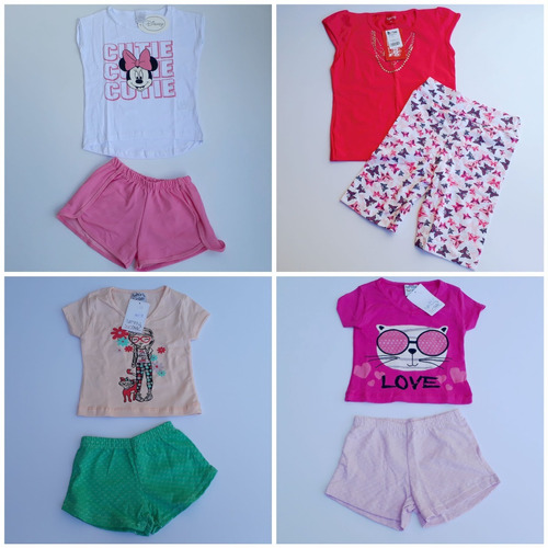 roupa menina atacado kit lote 10 conjuntos infantis feminino