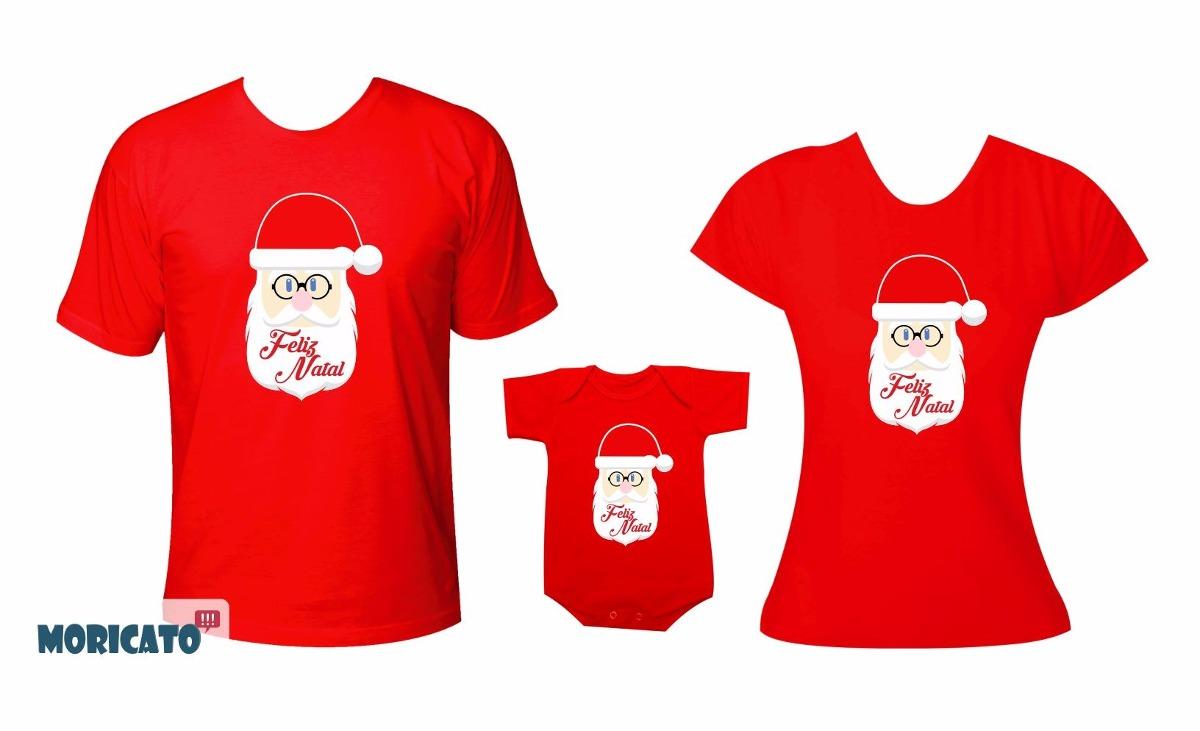 7be956a86 Roupa Natal Body Camiseta Familia Papai Noel Feliz Natal - R  152