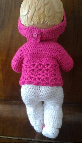 roupa para baby alive em crochê calça, casaco, tiara e sapat