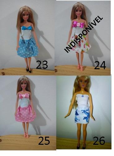 roupa para barbie, susi e similares frete barato
