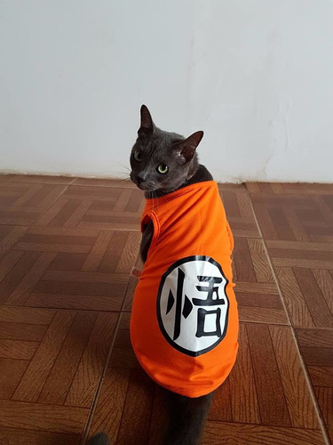 roupa para cachorro gato goku dragon ball z roupinha pet