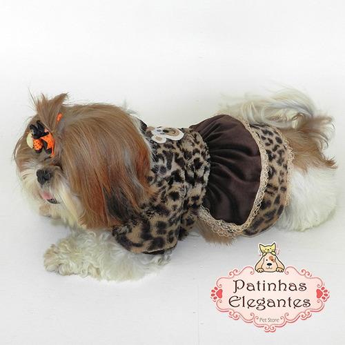 roupa para cachorro - vestido glamour (m) - loja