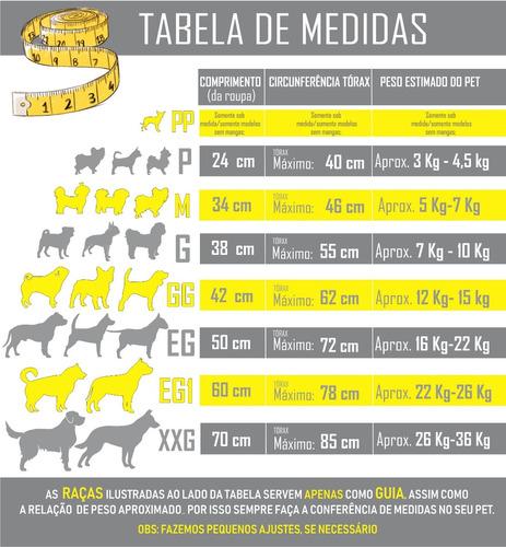 roupa pet moletom k-9 inverno cães até 10 kg tam p m g