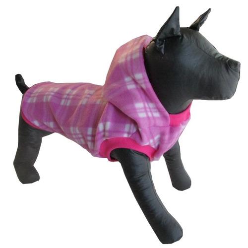 roupa pet soft polar xadrez cães até 10 kg pug shitzu p m g