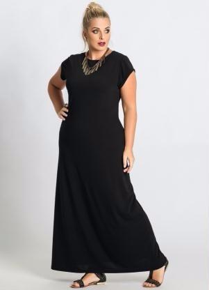 roupa plus size ( tamanho grande ) vestido longo - promoção