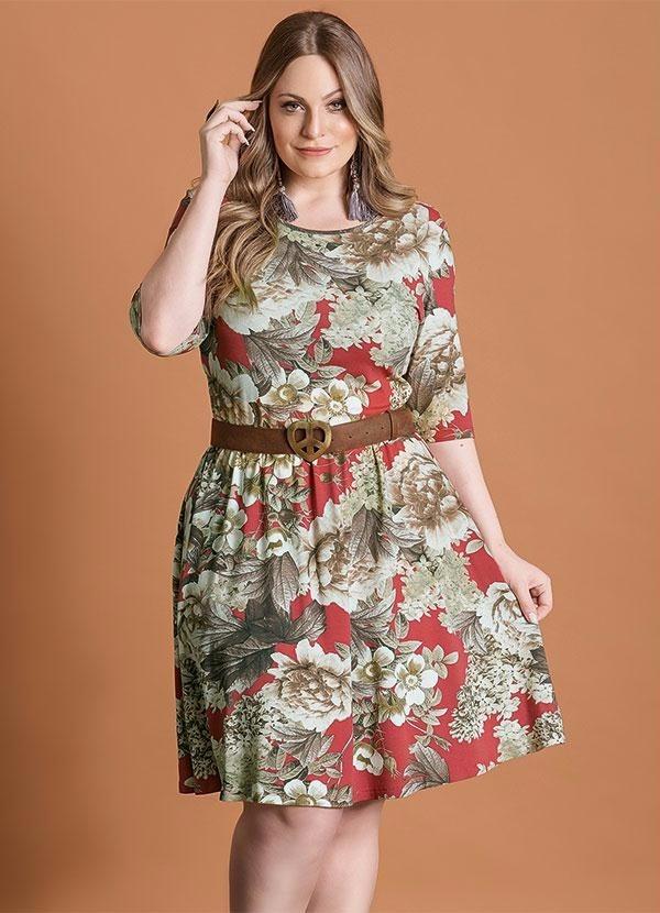 d74d68c15 roupa plus size - vestido acinturado floral. Carregando zoom.