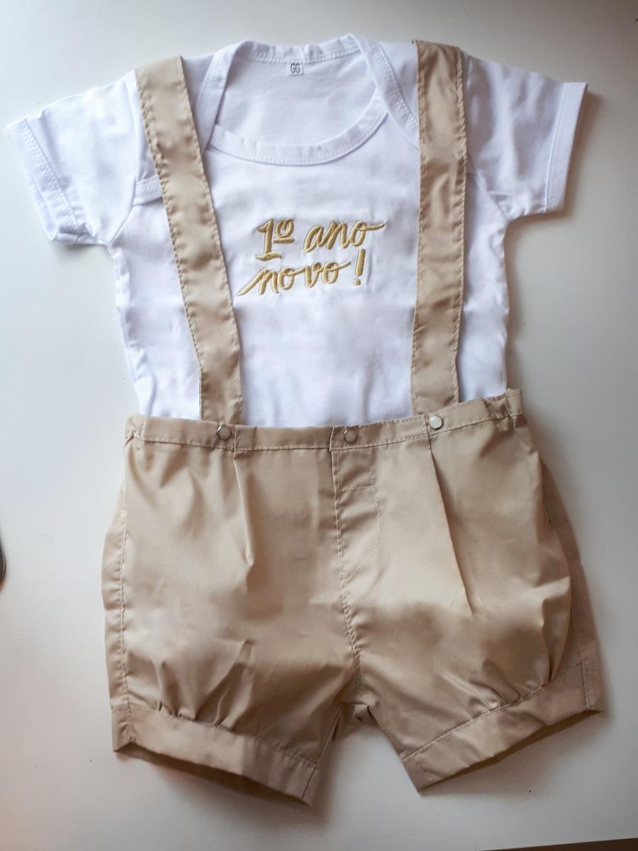 roupa primeiro ano novo bebê suspensorio masculino menino. Carregando zoom. 564f1ef4f7d