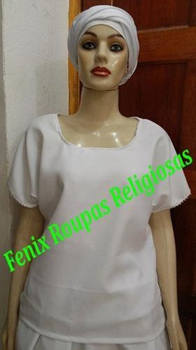 roupa ração feminino 2pçs oxford umbanda candomblé barato!!!
