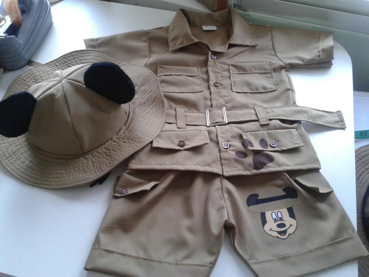 Roupa Safari Ou Mickey Safari Com Chapéu - R  100 a0bcd3109f7