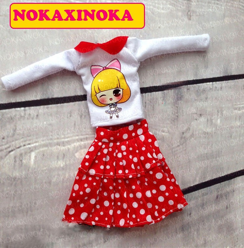 roupa + sapatinho para boneca blythe * pullip * obitsu