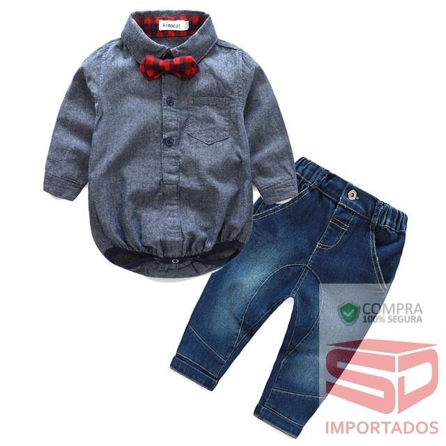 f14ff70f0 roupa social conjunto infantil bebê calça jeans festa · roupa conjunto bebê  calça. Carregando zoom.