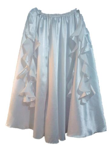 roupa traje saia godê para dança do ventre cetim com frufru