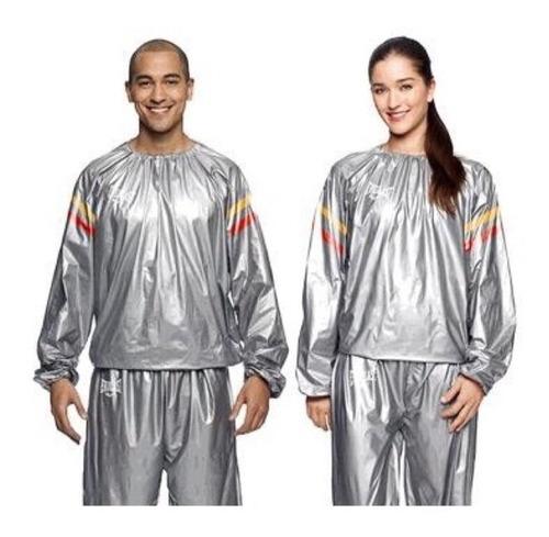 roupa treino sauna suit seca barriga abdominal homem mulher