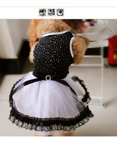 roupa vestido luxo brilho saia tule para cachorro tamanho m