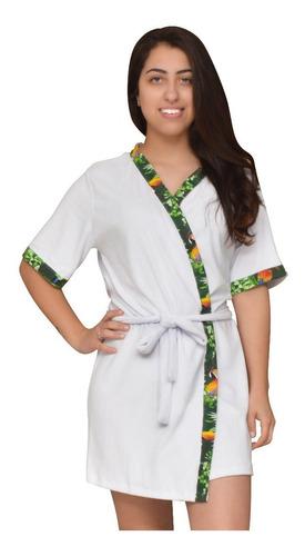 roupao banho feminino felpudo algodao verão luxo barato