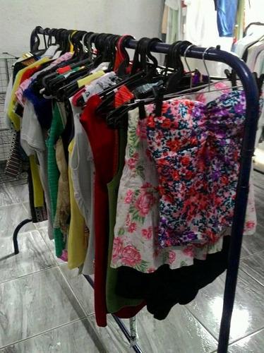 roupas brecho (50 blusas verão femininas p/m/g usadas)