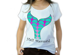 e18f3403f Mermaid Camiseta - Camisetas e Blusas no Mercado Livre Brasil