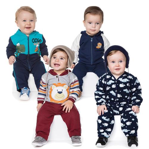roupas de bebê menino kit 4 conjuntos isensee inverno