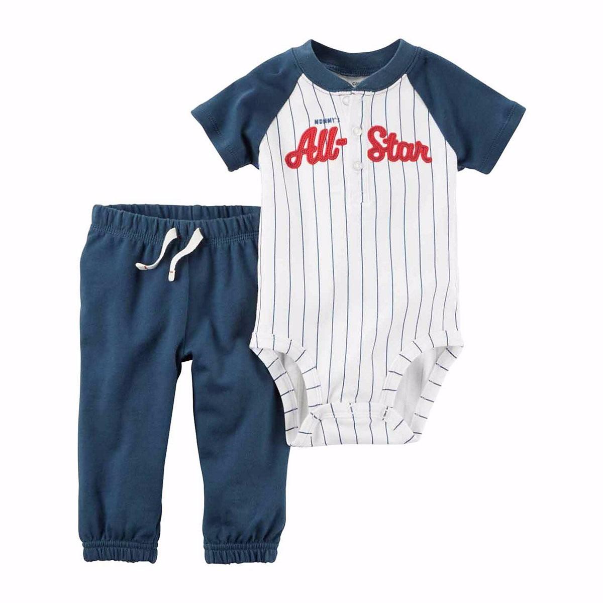 roupas de bebe cj carters 2pç body baseball all star calça. Carregando zoom. f9a4336041c