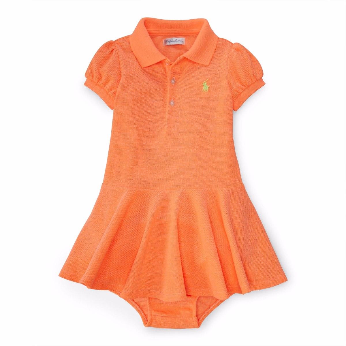 c21a9720f8 roupas de bebe vestido polo rl polo mangas curtas laranja. Carregando zoom.