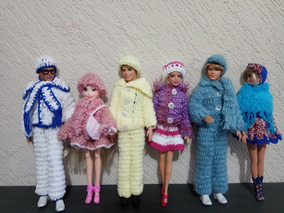 d807e80680af Roupa Barbie Boneca Crochê - Acessórios para Bonecas no Mercado Livre Brasil