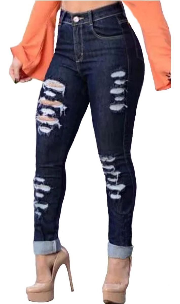 e814e95dade4 roupas feminina calça jeans rasgada strech cintura alta dins. Carregando  zoom.